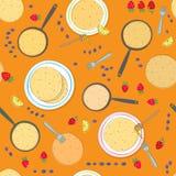 Nahtloses Muster des Pfannkuchens stock abbildung