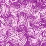Nahtloses Muster des purpurroten Gekritzelzusammenfassungs-Vektors Stockfotos