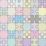 Nahtloses Muster des Puzzlespiels. Lizenzfreie Stockfotografie