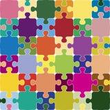 Nahtloses Muster des Puzzlespiels. Lizenzfreie Stockbilder