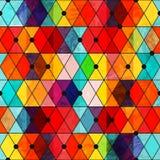 Nahtloses Muster des Regenbogenfarbmosaiks Stockbilder