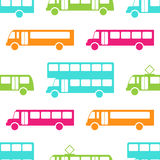 Nahtloses Muster des Retro- Busses Stockfotografie