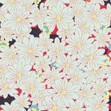 Nahtloses Muster des romantischen Blumen-Hintergrundes Stockfoto