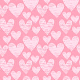 Nahtloses Muster des rosa Herzens Lizenzfreies Stockfoto