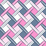 Nahtloses Muster des süßen Rauten-gewebten Materials Stockbilder