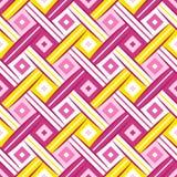 Nahtloses Muster des süßen Rauten-gewebten Materials lizenzfreie stockbilder