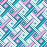 Nahtloses Muster des süßen Rauten-gewebten Materials Stockfotografie