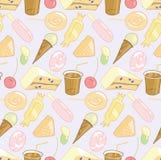 Nahtloses Muster des Süßigkeitsystems Stockfotos