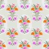 Nahtloses Muster des schönen Blumenvektor-Designs vektor abbildung