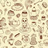 Nahtloses Muster des schönen Frühstücks Stockfoto