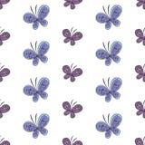 Nahtloses Muster des schönen Schmetterlinges Auch im corel abgehobenen Betrag Lizenzfreie Stockfotografie