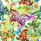 Nahtloses Muster des Schmetterlinges. ENV 10 Lizenzfreie Stockbilder