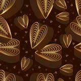 Nahtloses Muster des Schokoladensplitters der Liebe neun Stockbild