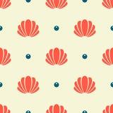 Nahtloses Muster des Seashell Stockfoto