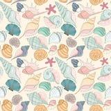 Nahtloses Muster des Seashell Stockfotos