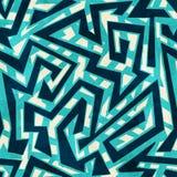 Nahtloses Muster des Seelabyrinths Stockfotos