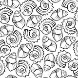 Nahtloses Muster des Seeshells Lizenzfreies Stockbild