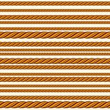 Nahtloses Muster des Seils Stockfotografie