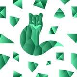 Nahtloses Muster des Smaragdfuchses Stockfotos