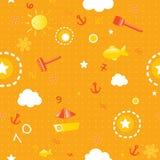 Nahtloses Muster des Sommers Lizenzfreies Stockfoto