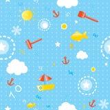 Nahtloses Muster des Sommers lizenzfreie abbildung