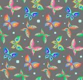 Nahtloses Muster des Sommers mit Schmetterlingen lizenzfreie abbildung