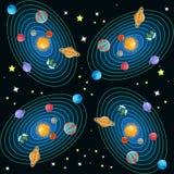 Nahtloses Muster des Sonnensystems Lizenzfreie Stockfotos