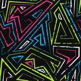 Nahtloses Muster des Spektrumlabyrinths Lizenzfreie Stockfotografie