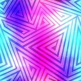 Nahtloses Muster des Spektrumlabyrinths Stockfotografie