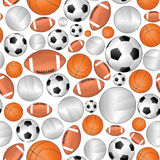 Nahtloses Muster des Sports Lizenzfreie Stockfotografie