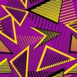 Nahtloses Muster des städtischen Kunstsportzusammenfassungs-Vektors Geometrische Zeile lizenzfreie abbildung