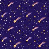 Nahtloses Muster des sternenklaren Himmels Lizenzfreies Stockbild