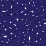 Nahtloses Muster des sternenklaren nächtlichen Himmels Stockfotografie