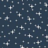Nahtloses Muster des sternenklaren nächtlichen Himmels Lizenzfreie Stockfotografie