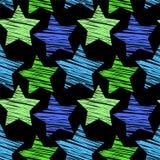 Nahtloses Muster des Sternes Lizenzfreies Stockbild