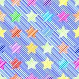 Nahtloses Muster des Sternes stock abbildung