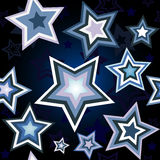 Nahtloses Muster des Sternes Lizenzfreie Stockfotos