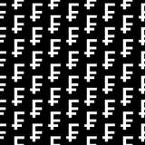 Nahtloses Muster des Symbols des Schweizer Franken Stockfotos