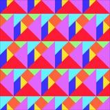 Nahtloses Muster des Tangram Lizenzfreie Stockfotografie