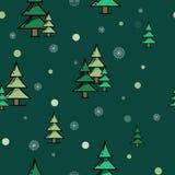 Nahtloses Muster des Tannenwaldgrüns Stockfotografie