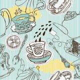 Nahtloses Muster des Tees Stockbilder