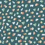Nahtloses Muster des Terrazzo Musterideal für Packpapier, Tapete, Terrazzobodenbelag stock abbildung