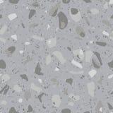 Nahtloses Muster des Terrazzovektors Konkrete Bodenbeschaffenheit mit Natursteinfragmenten, Granit, Marmor stock abbildung