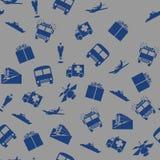 Nahtloses Muster des Transportes und der Kommunikation Stockfoto