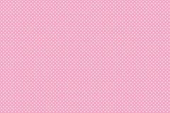 Nahtloses Muster des Tupfens Weiße Punkte auf rosa Hintergrund Lizenzfreie Stockfotografie