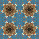 Nahtloses Muster des ursprünglichen Mosaiks Stockfotografie