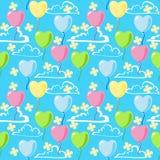 Nahtloses Muster des Valentinsgrußes Stockfoto