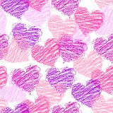 Nahtloses Muster des Valentinsgrußes Lizenzfreie Stockfotos