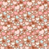 Nahtloses Muster des Valentinsgrußes mit Inneren Lizenzfreies Stockbild