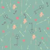 Nahtloses Muster des Valentinstags Lizenzfreies Stockfoto